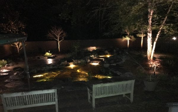 Low Voltage Landscape Lighting At The McAuliffe Home In Alexandria, VA