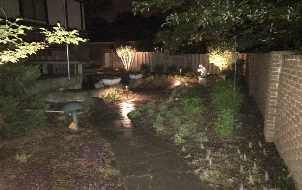 Lighting for path and natural area in Alexandria MD