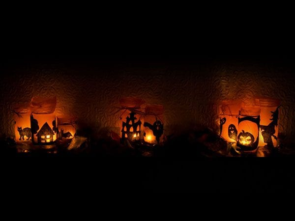 Candles are one of the best Halloween lighting ideas
