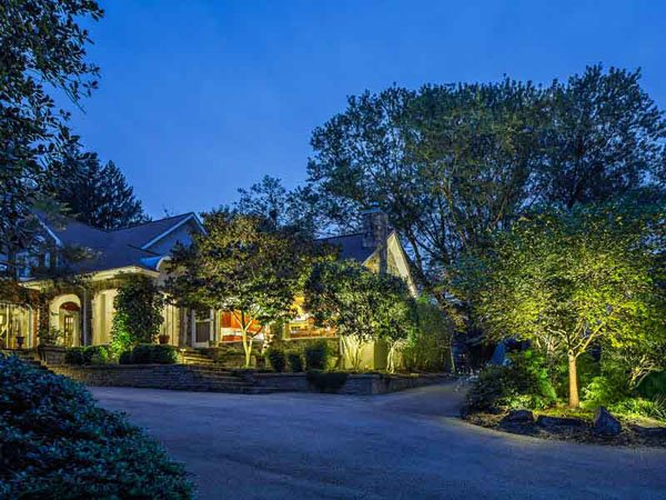 A benefit of landscape lighting is it highlights key points